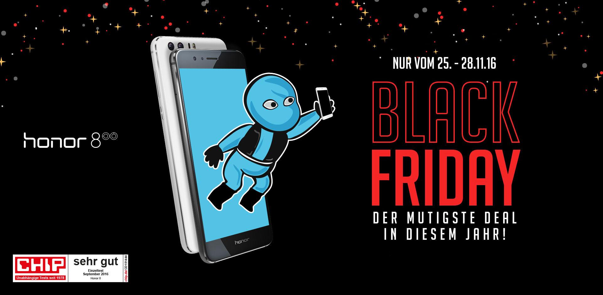 [Vmall] Honor 8 für 349€ + 50€ Cashback - Black Friday Leak
