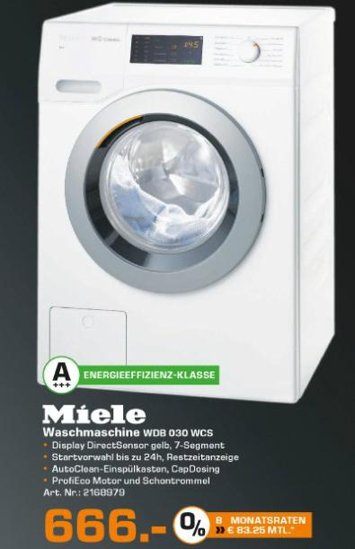 [Lokal: Saturn Düsseldorf/Neuss] Waschmaschine Miele WDB 030 WCS für 666,- € @BF2016