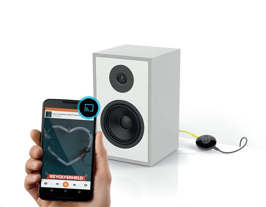 Chromecast Audio wieder für 2,95 € mit kostenlos 3 Monate Audioteka und 4 Monate freenetmobile 500 MB