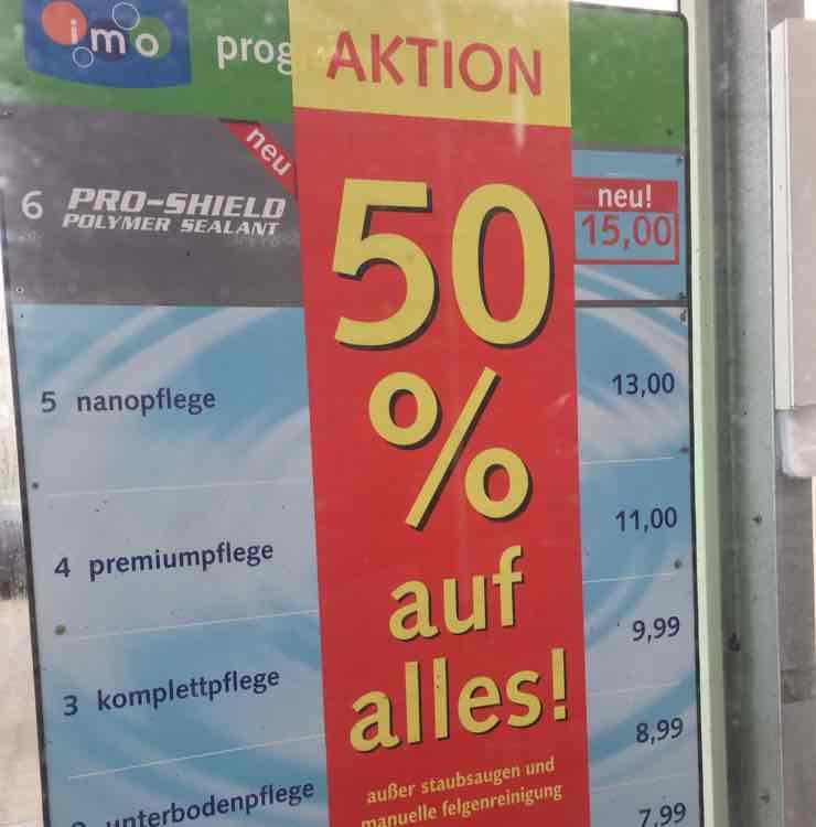 Autowäsche Halle/Saale Neustadt 50% auf alles