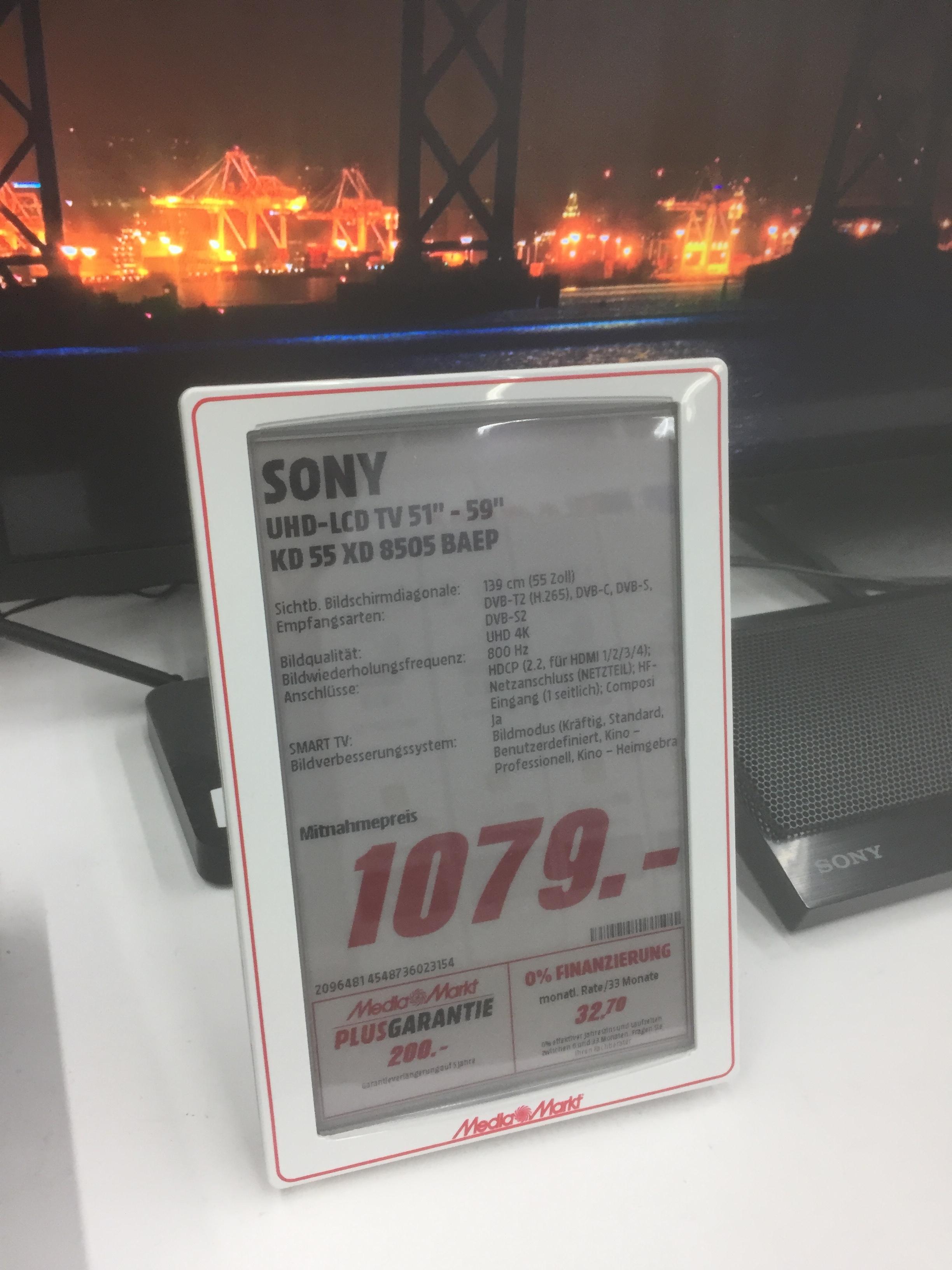 Lokal Mediamarkt Elmshorn: Sony 55XD8505