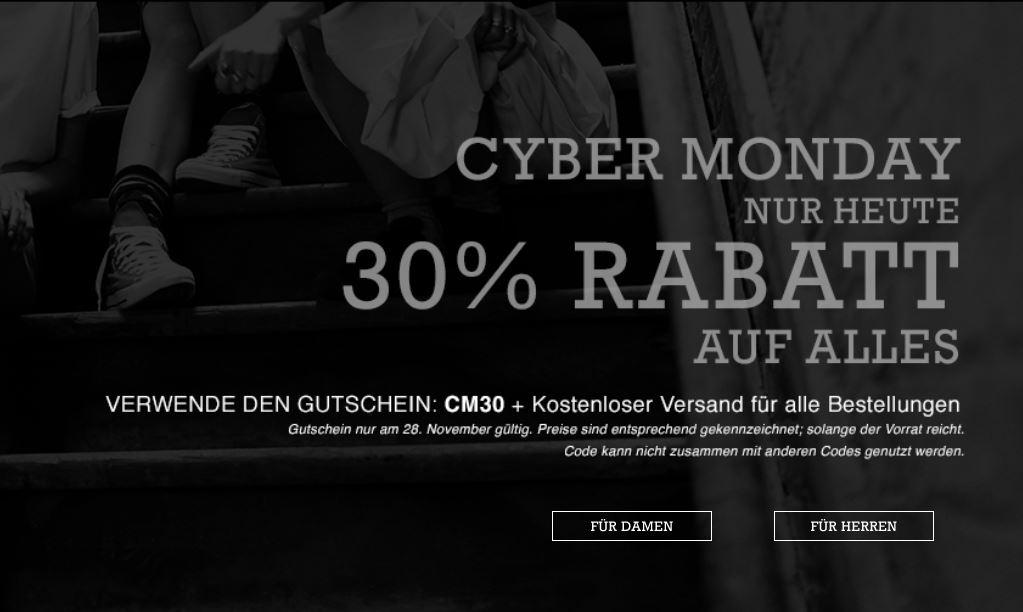 EDIT: Bester Converse Deal bis jetzt: Cyber-Montag bei CONVERSE + bis zu 70% Sale + 30% on TOP + kostenloser Versand