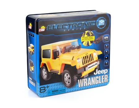 COBI Jeep Wrangler, RC-Auto, mit Infrarot-Fernbedienung, Bauklötze, Gelb