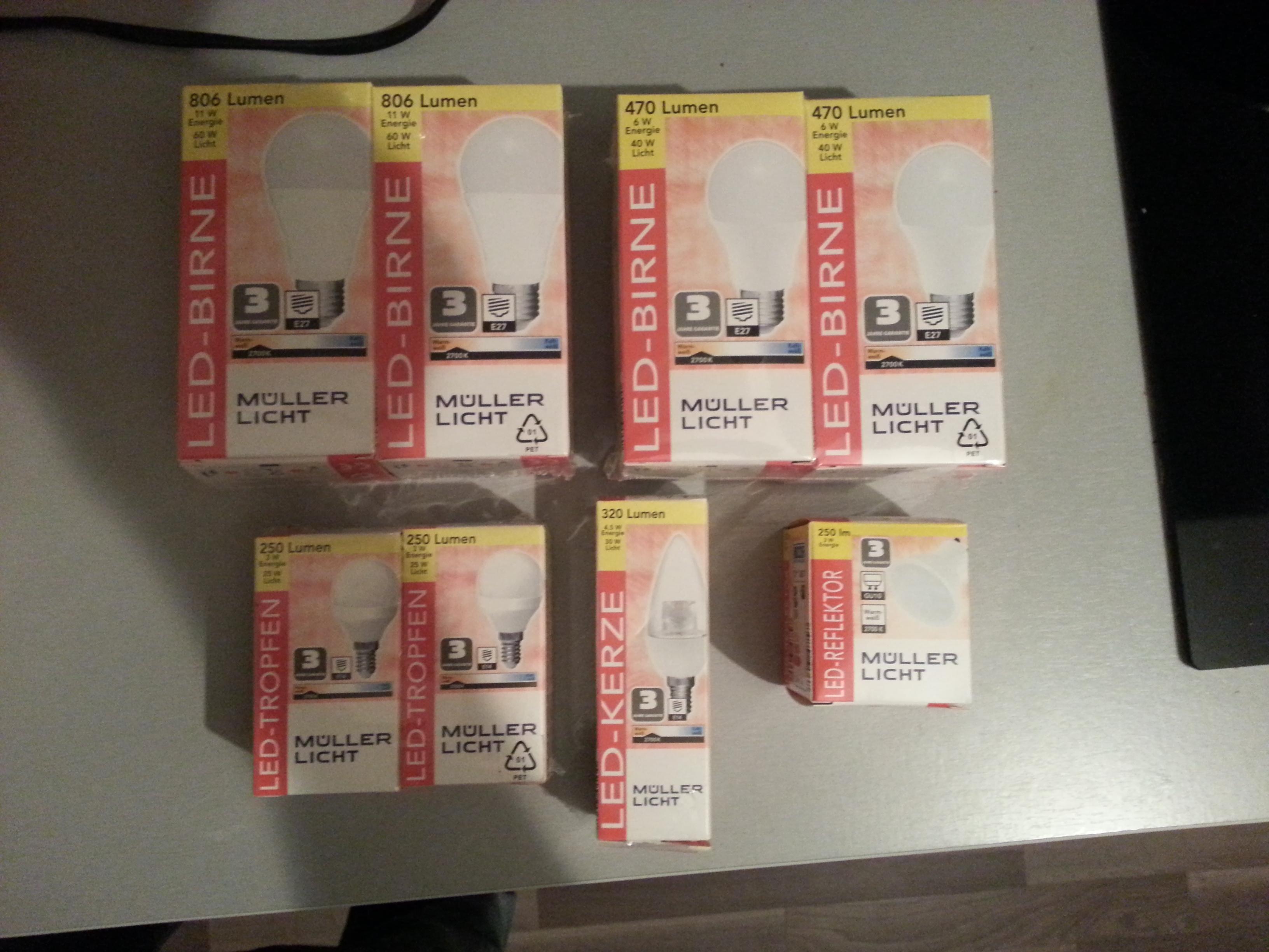 [Lokal??] Aldi-Süd hat verschiedene LED-Leuchtmittel    2 Stück für 1,99 Euro!!!!