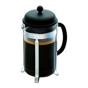 Bodum CAFFETTIERA Kaffeebereiter (French Press System, Permanent Edelstahlfilter, 0,35 liters) schwarz AMAZON BLITZANGEBOT