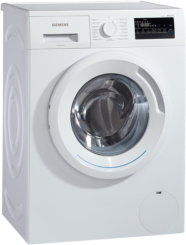 Siemens iQ300 WM14N2A0 Waschmaschine Frontlader  / A+++ / 157 kWh/Jahr / 1390 UpM / 7 kg / Großes Display mit Endezeitvorwahl / WaterPerfect  für 379€ statt 518€ [Amazon Cyber Monday Woche]
