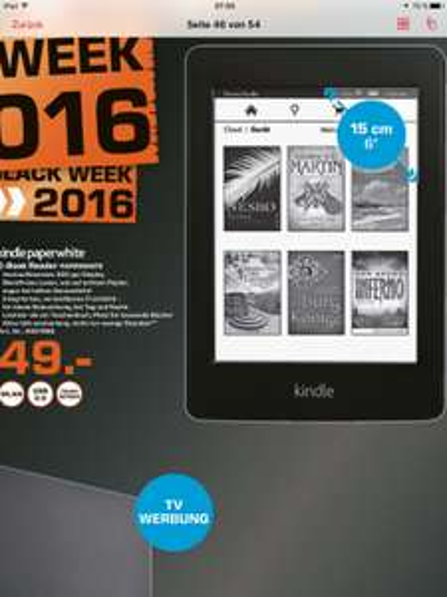 (Lokal Saturn München) Kindle Paperwhite nur 49 Euro / Idealo 79 Euro
