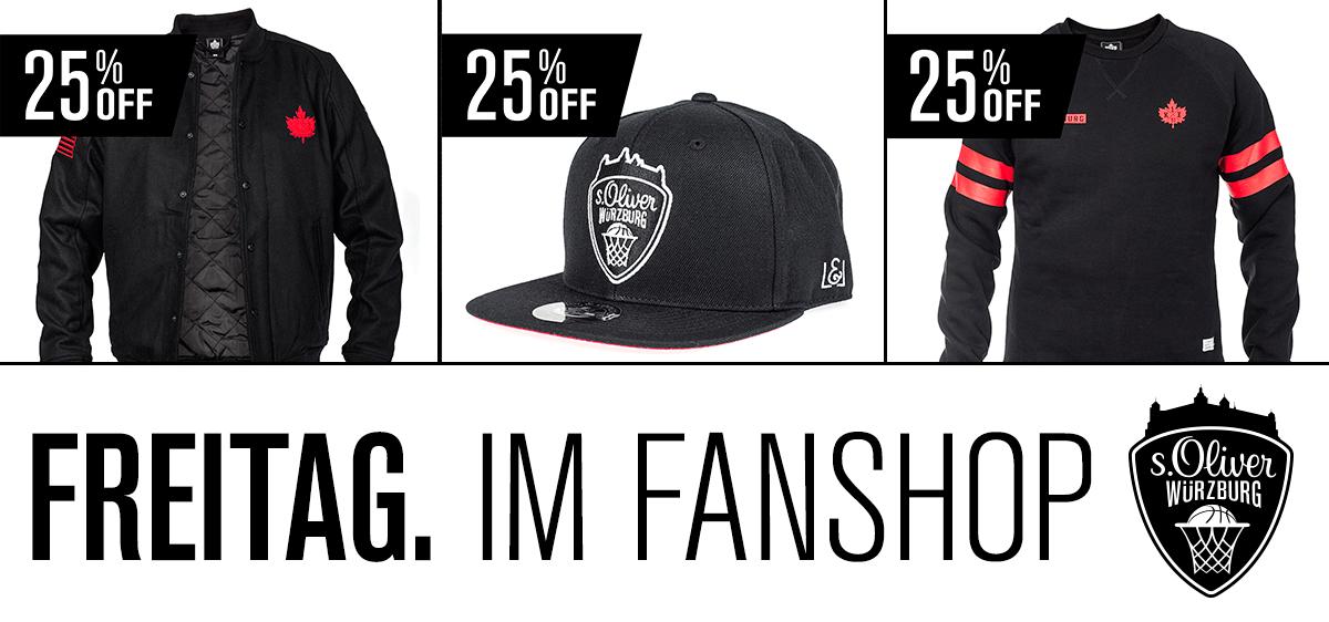 s.Oliver Würzburg Fanshop 25% Rabatt am Freitag auf schwarze Produkte @bf2016