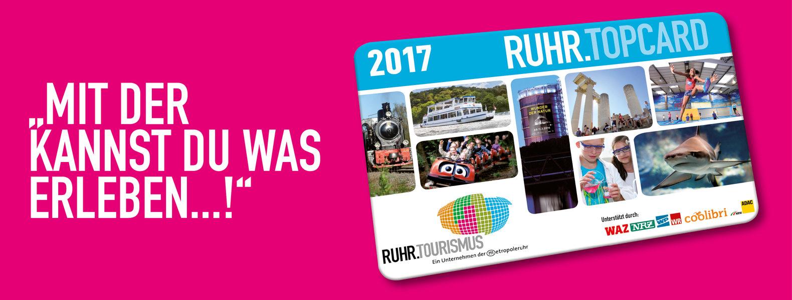 Ruhrtopcard 2017 verbilligt als Abonnement von WP, WR, NRZ, WAZ , sonst über ADAC