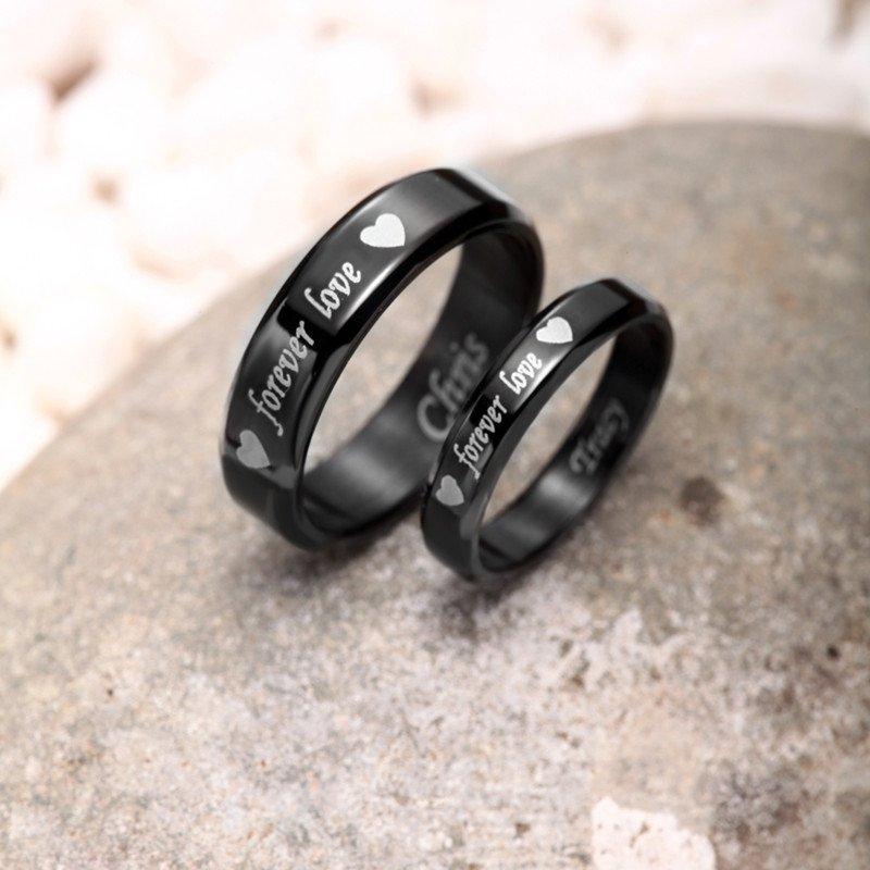 Blackfriday: Titanium Steel Ringe mit persönlicher Gravur