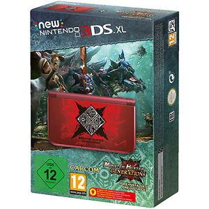 (Saturn Online-ausverkauft - Ebay noch verfügbar) - New Nintendo 3ds XL Monster Hunter Generations Edition + Ebay  Deal in der Beschreibung: 161,10 € !!!!