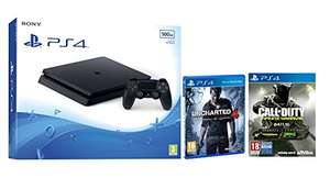(Amazon.es) PlayStation 4 Slim + Call of Duty: Infinite Warfare + Uncharted 4 für 269,30€