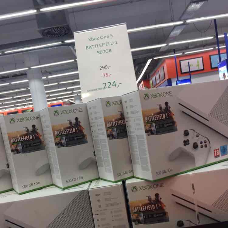 XBOX ONE S  500 GB + Battlefield 1 [Lokal Saturn Wuppertal]