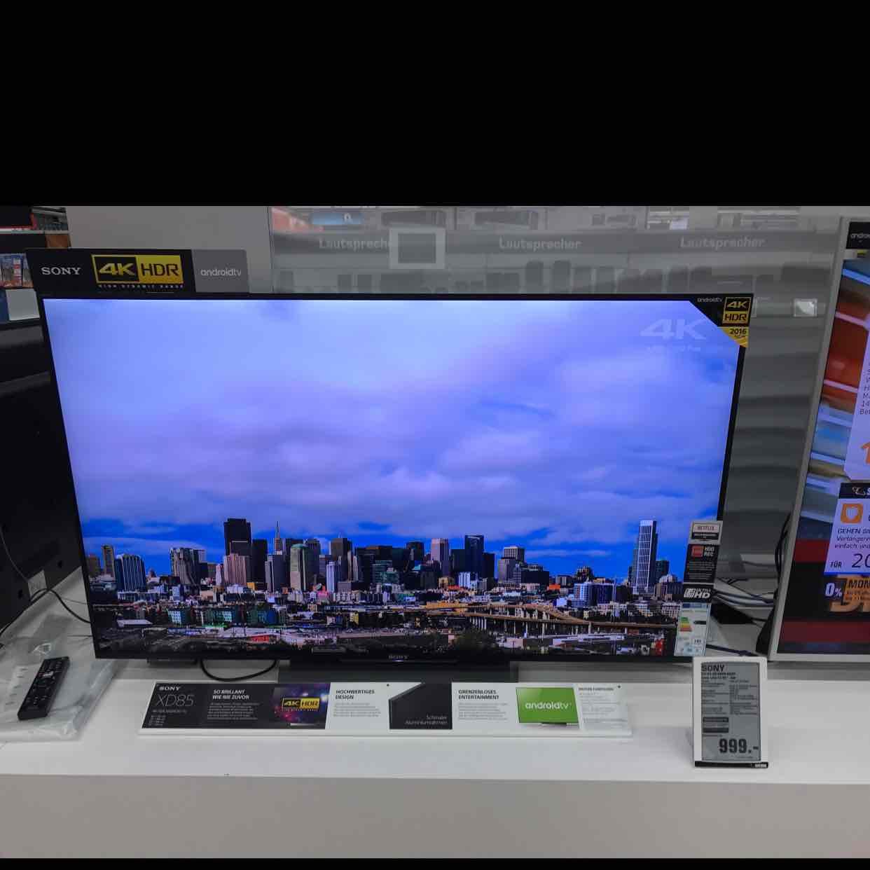 [Saturn Bergisch Gladbach] KD55xd8505baep Sony UHD TV für 999€
