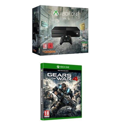 Xbox One 1TB + Tom Clancy's The Division + Gears of War 4 für 205,41€ (Amazon.es)