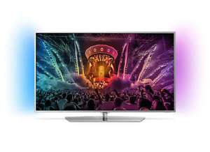 Philips 49PUS6551 TV (49 Zoll UHD Direct-lit IPS, 100Hz, HDR, 4x HDMI, WLAN, Triple Tuner, 2-seitiges Ambilight, Android TV, EEK B) bei eBay