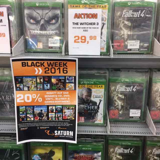 Saturn HH: Xbox One Witcher 3 Goty