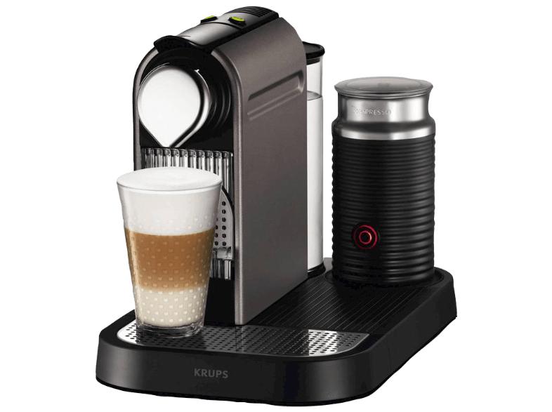 Krups Nespresso New CitiZ & Milk XN 730T Titan + 116 Kapseln für 99€ bei Saturn @BF2016