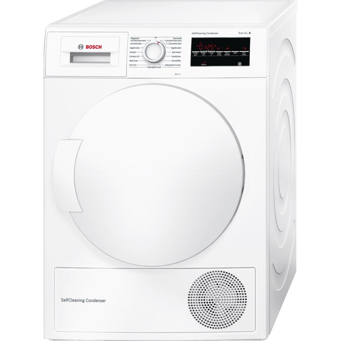 BOSCH Serie | 6 Kondensationstrockner mit Wärmepumpentechnologie (selbstreinigender Kondensator)
