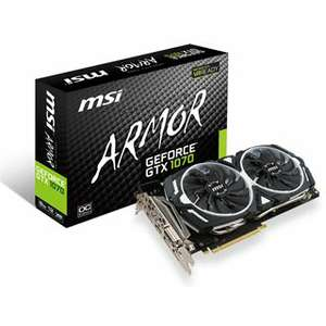 MSI GeForce GTX 1070 Armor 8G OC Edition Aktiv PCIe 3.0 x16 (Retail)