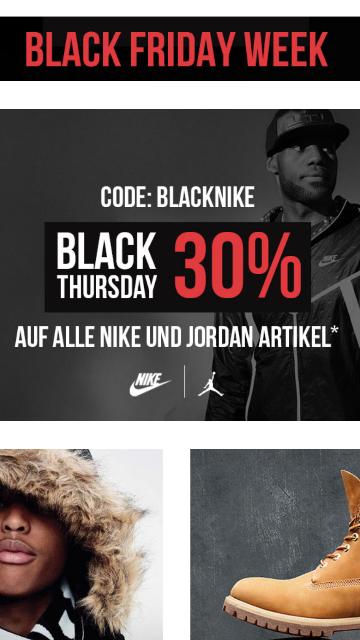 30 % auf alle Jordan und Nike  Artikel