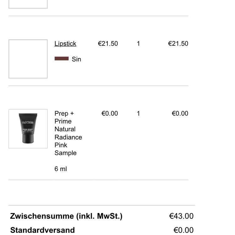 Preisfehler - Mac Cosmetic Gutschein 28,00 Euro ohne Mindestbestellwert