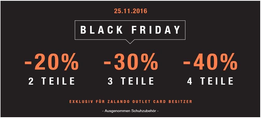Zalando Outlet - zusätzliche 20,30 oder 40% Rabatt ab 2/3/4 Teilen