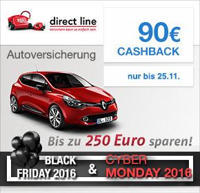 90 Euro Cashback bei Directline KFZ Versicherung