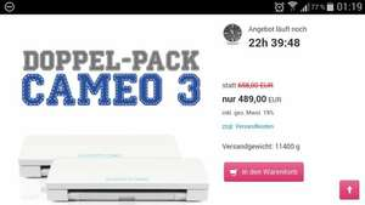 Cameo 3 Plotter Bundle (2 Stück) zum Preis von 489€