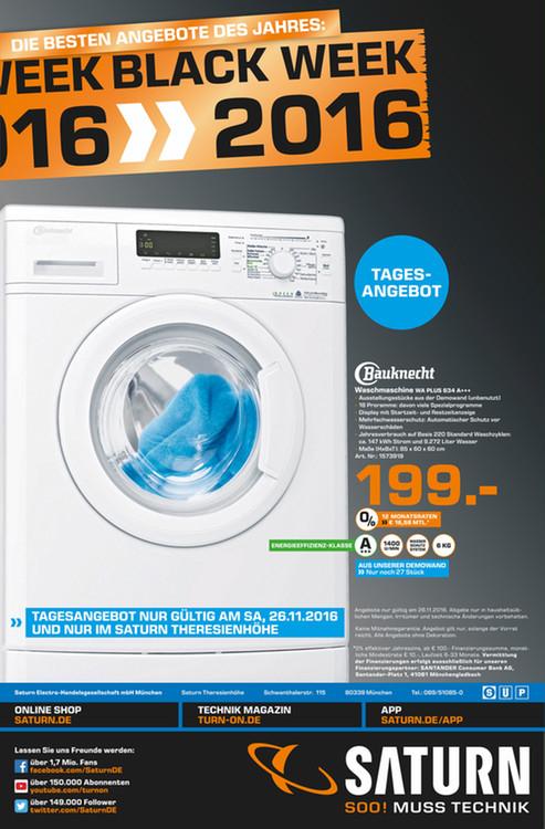 Lokal München ab Morgen Waschmaschine von Bauknecht WA PLUS 634