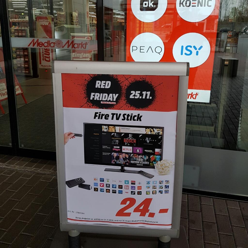 Fire TV Stick für 24€ @Mediamarkt Bischofsheim