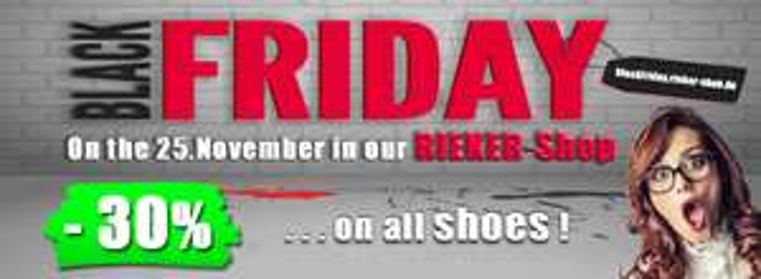 30% auf alle Rieker Schuhe bei Rieker-Shop.de und 50% im Outlet @ Black Friday 2016