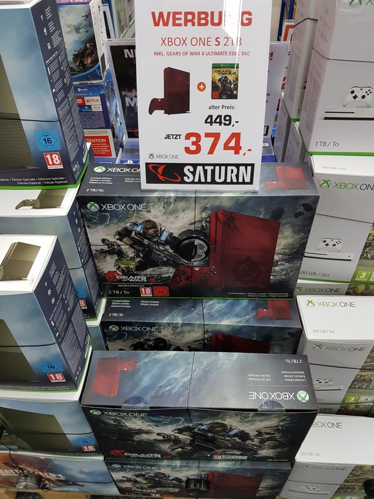 [Lokal - Saturn München Neuhauserstraße]: Xbox One S 2TB Ultimate Edition inklusive Gears of War 4