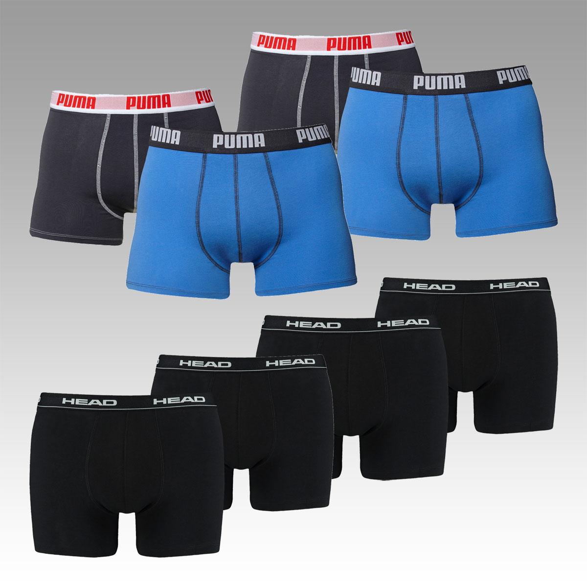 Boxershorts-Konglomerat: 8er Pack HEAD oder PUMA Buchsen ab 23,95 €