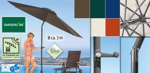 Aluminium- Party-Sonnenschirm 3m bei Aldi Süd [Offline]