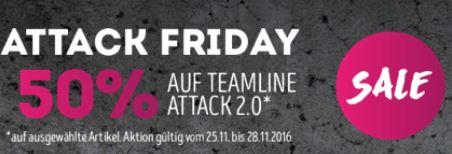 [Sammeldeal] Jako Black Friday - 50% Rabatt auf Teamline Attack Serie - keine Versandkosten