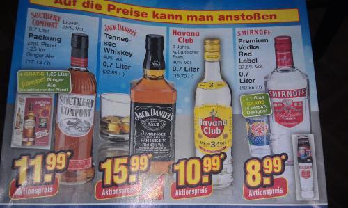 [netto marken-discount] Southern Comfort + 1,25 Liter schweppes ginger ale für 11,99 Euro