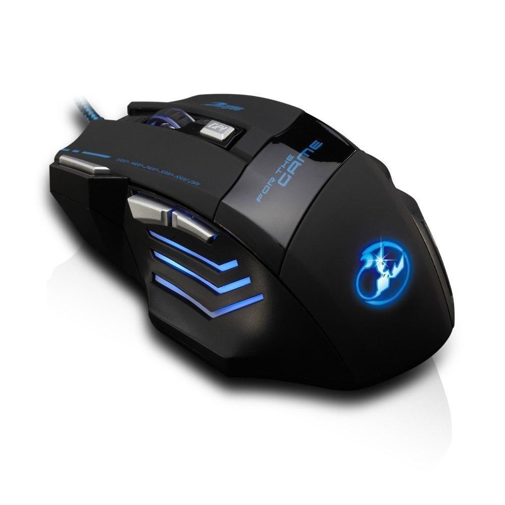 LED Maus - 5500 DPI - 7 Tasten - 1,5m Kabel - Amazon mit Prime