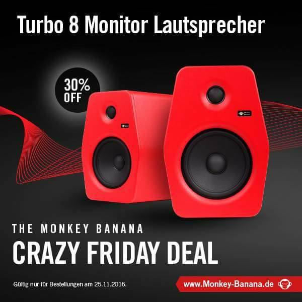 Black Friday: Monkey Banana Turbo 8 - Studio Lautsprecher (-30%)