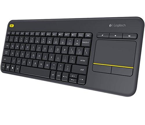 Logitech K400 Plus Touch Wireless Tastatur schwarz (QWERTZ, deutsches Tastaturlayout) für 18€ @Amazon.de (Prime) bzw. 8,43€für Studenten
