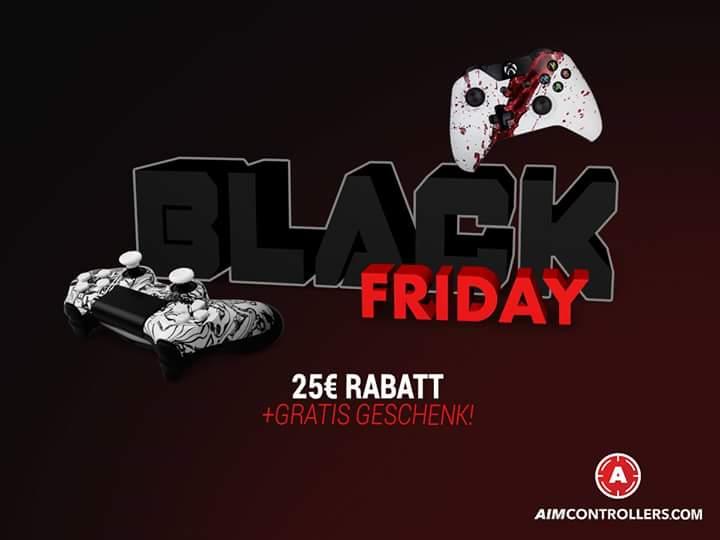 Aimcontrollers.com / Black Friday - 25 Euro Rabatt auf alle Produkte und zusätzlich ein kleines Geschenk / Dadurch kostet der Standart PS4 Scuf nur 67,94 € inkl. Versand