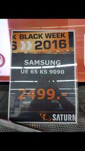 Black Friday Samsung UE65KS9090+galaxy s7 edge 2499€ im Saturn Wolfsburg
