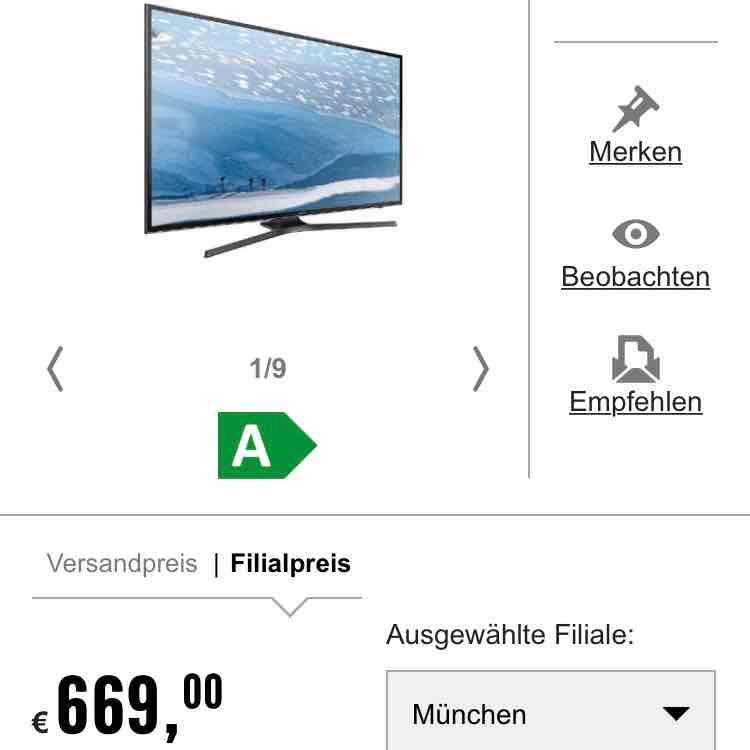 Samsung UHD TV UE55KU6079 | Media Markt genauso