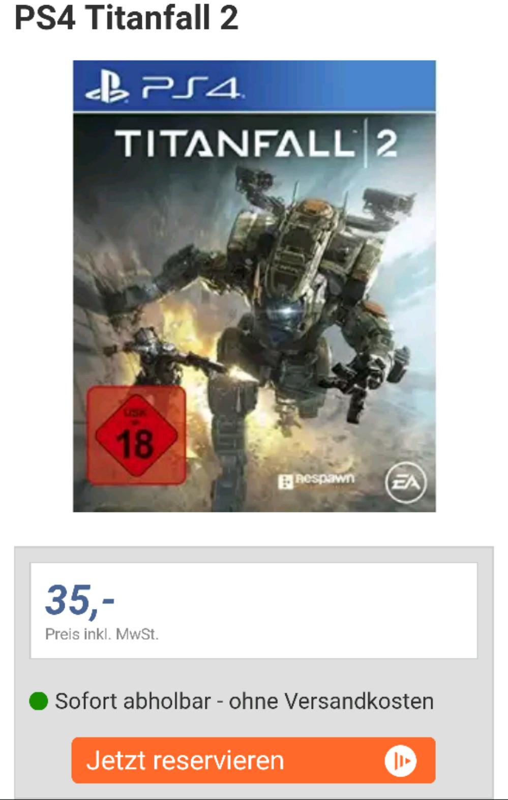 TITANFALL 2 PS4 lokal