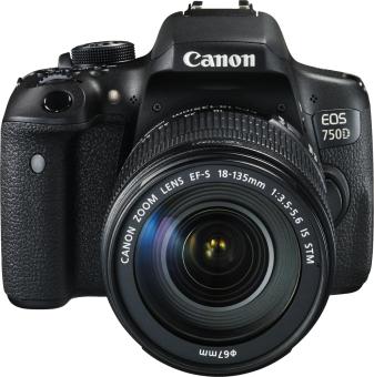 [CH MediaMarkt] Canon EOS 750D (18-135 mm IS STM Kit) (599 CHF) -45/70€ Cashback