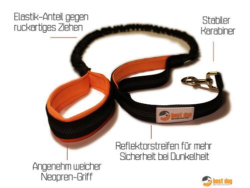 [AMAZON PRIME] Best Dog - Hundeleine mit Ruckdämpfer für 9,90 Euro statt 19,99 Euro!