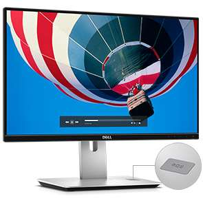 20% unter idealo - Dell UltraSharp U2417HJ - Pivotfunktion - kabelloses Laden  [Office-Partner.de]