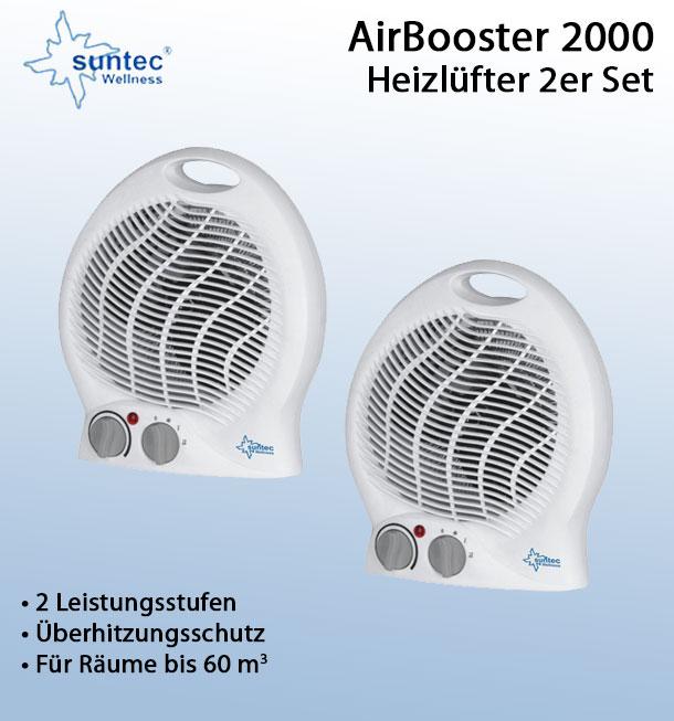 ebay-deltatecc: 2x Heizlüfter SUNTEC 11610 AirBooster 2000 Heizlüfter Heizgerät Raumheizer Heizung 2.000 W