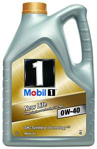 [Amazon][Blitzangebot] Mobil 1 New Life Motoröl 0W-40, 5L