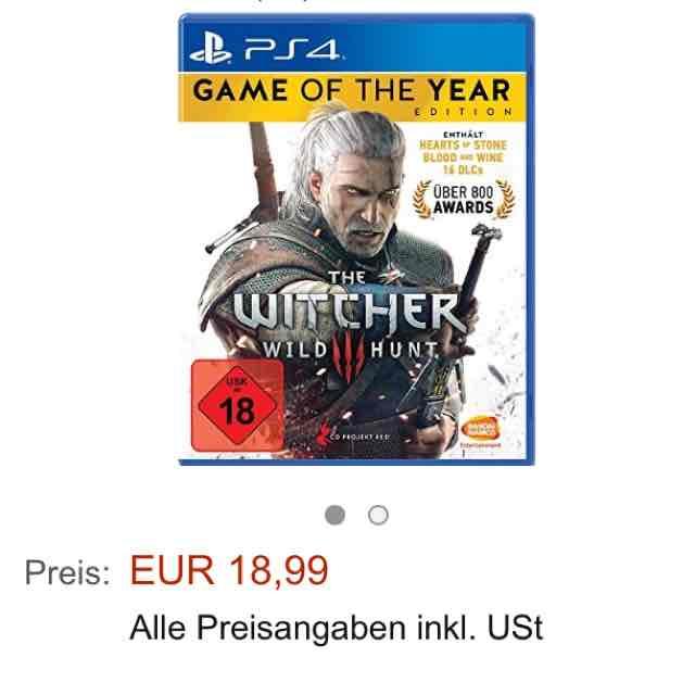 UPDATE The Witcher 3 GOTY Amazon 18,99€+5€ Versand